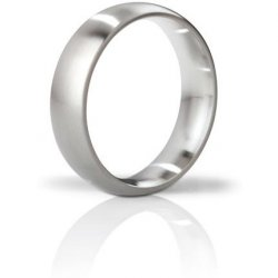 Mystim The Earl Brushed Stainless Steel Cock Ring - 48mm Sex Toy