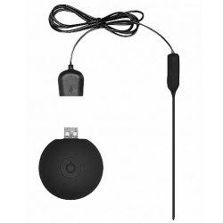 Shots Silicone Recharegable Vibrating Urethral Plug With Remote - Black