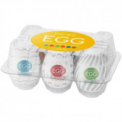 Tenga Easy Beat Egg New Standard Masturbator Six Pack