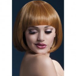 "Smiffy: The Fever Wig Collection Mia 10"" Short Bob With Fringe - Auburn Sex Toy"