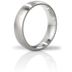 Mystim The Earl Brushed Stainless Steel Cock Ring - 51mm Sex Toy