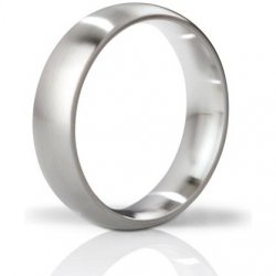 Mystim The Earl Brushed Stainless Steel Cock Ring - 55mm Sex Toy