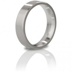 Mystim The Duke Brushed Stainless Steel Edged Cock Ring - 48 mm Sex Toy