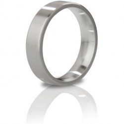 Mystim The Duke Brushed Stainless Steel Edged Cock Ring - 51 mm Sex Toy