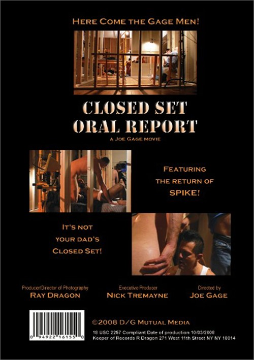 Closed Set Oral Report Cover Back