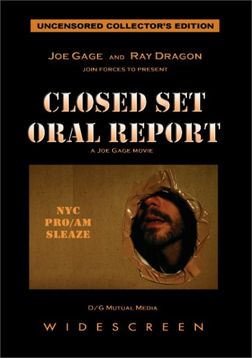 Closed Set Oral Report Cover Front