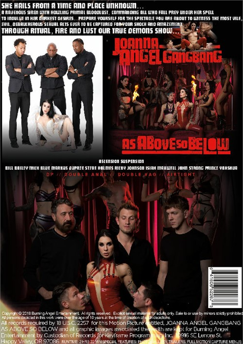 Back cover of Joanna Angel Gangbang: As Above, So Below