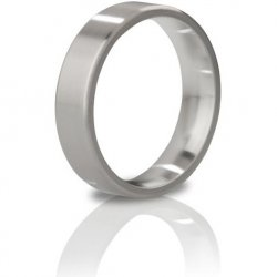 Mystim The Duke Brushed Stainless Steel Edged Cock Ring - 55 mm Sex Toy