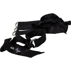 Bettie Page Sweet On Satin Restraints Set - Black