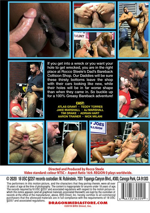 Rocco Steeles Dads Bareback Collision Shop Cover Back