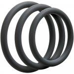 Optimale: 3 C-Ring Thin Set - Slate Sex Toy