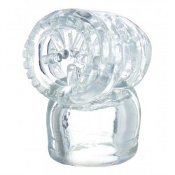 Vibra Cup Wand Attachment - Clear Sex Toy