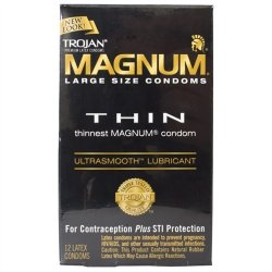 Trojan Magnum Thin Lubricated - 12 Pack Sex Toy