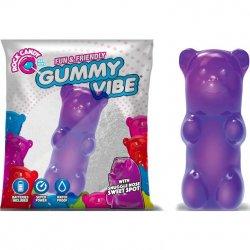 Rock Candy - Gummy Bear 5-function Mini Vibe - Jelly Bean Purple