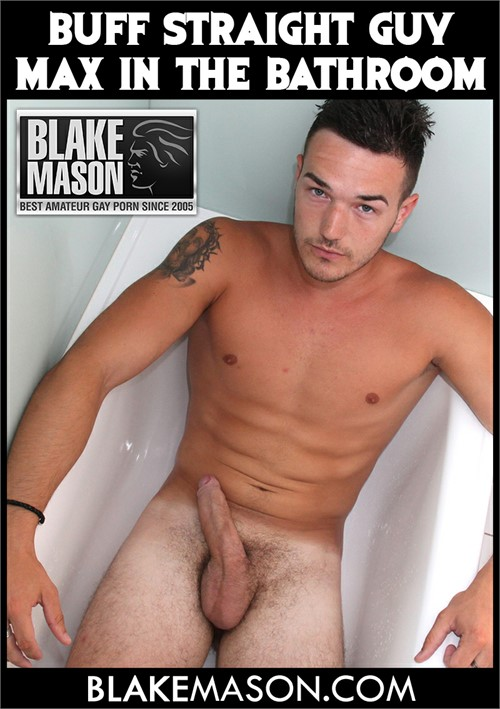 Buff Straight Guy Max in the Bathroom Boxcover
