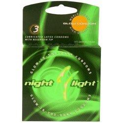Night Light Glow Condoms - 3 Pack