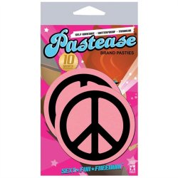 Pastease Baby Pink Peace Signs