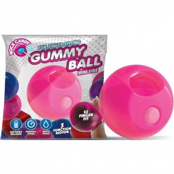 Rock Candy - Gummy Ball 5-function Mini Finger Vibe - Bubblegum Pink Sex Toy