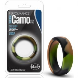 Performance Silicone Camo Cock Ring - Green Camouflage Sex Toy
