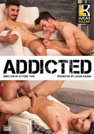 Addicted gay porn DVD from Lucas Kazan Productions.