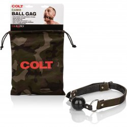 Colt Adjustable Silicone Ball Gag - Camo Sex Toy