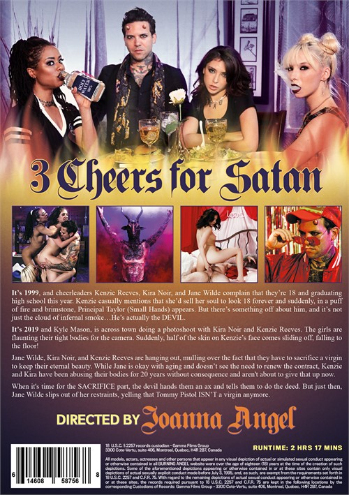 Back cover of 3 Cheers For Satan