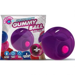 Rock Candy - Gummy Ball 5-function Mini Finger Vibe - Jelly Bean Purple Sex Toy