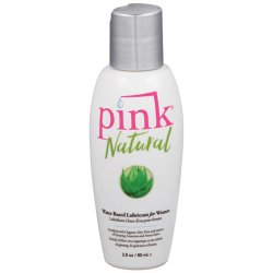Pink Natural Water Based Lubricant For Women - 2.8oz