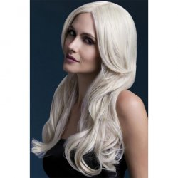"Smiffy: The Fever Wig Collection Khloe 26"" Long Wave with Center Part - Blonde Sex Toy"
