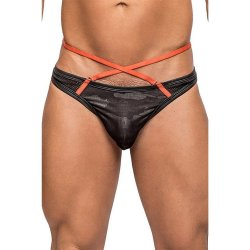 Male Power: Camo Net Sport Thong - Black - L/XL Sex Toy