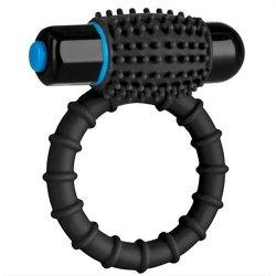 Optimale: Silicone Vibrating C-Ring - Black