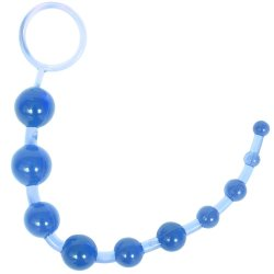 Sassy 10 Anal Beads - Blue