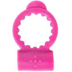 Neon Vibrating Waterproof Cockring - Pink
