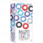 The 9's: Baller's Dozen 12 Stretchy Cock Rings Sex Toy