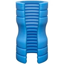 OptiMALE TRUSKYN Silicone Stroker Ribbed - Blue Sex Toy
