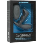 OptiMALE Vibrating Rechargeable Cock Cage with Wireless Remote - Slate Sex Toy