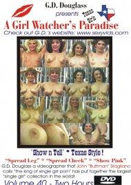 Girl Watcher's Paradise Volume 40, A Porn Video