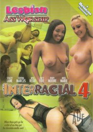 Lesbian Ass Worship: Interracial 4 Porn Video