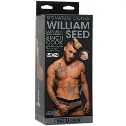 "William Seed 8"" ULTRASKYN Cock with Removable Vac-U-Lock Suction Cup Sex Toy"