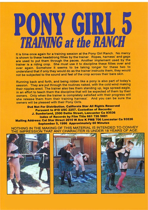 Pony Girl 5 Training at the Ranch Videos On Demand | Adult ...