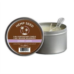 Earthly Body Suntouched Hemp Candle - 6.8 oz  - Lavender