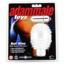 Ball Bliss Ball Sack Vibrator - Clear