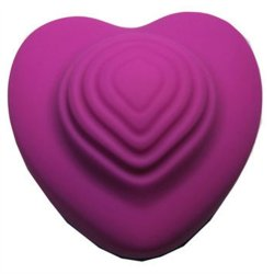Heart-Throb Rechargeable 10-Function Throbbing Silicone Massager - Plum