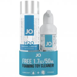 Jo H2O Classic Water Based 4oz Lube w/ Free 1.7oz Foaming Toy Cleaner Set
