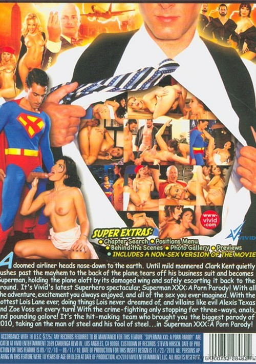 Back cover of Superman XXX: A Porn Parody