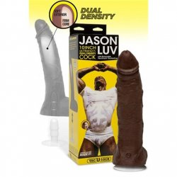 "Jason Luv 10"" UltraSkyn Cock with Removable Vac-U-Lock Suction Cup Sex Toy"