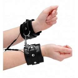 Shots Bold Electroshock Handcuffs - Black Sex Toy