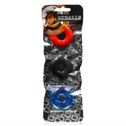 Oxballs Ringer 3-Pack Cockrings - Multi Color