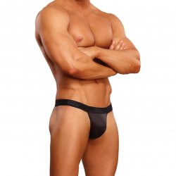 Male Power: Black Cobra Micro V-Back G-String - S/M Sex Toy