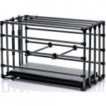 Kennel Adjustable Puppy Cage with Padded Board - Black Sex Toy